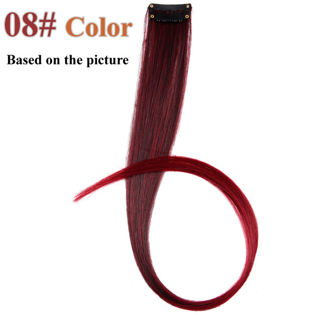 20 Colors 50CM Single Clip In One Piece Hair Extensions #60 / 20inches