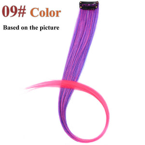 20 Colors 50CM Single Clip In One Piece Hair Extensions #613 / 20inches