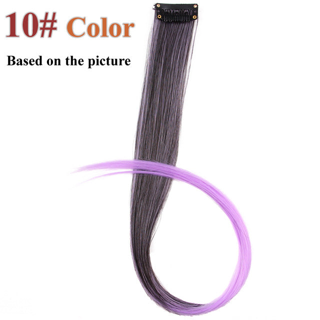 20 Colors 50CM Single Clip In One Piece Hair Extensions P2/350 / 20inches