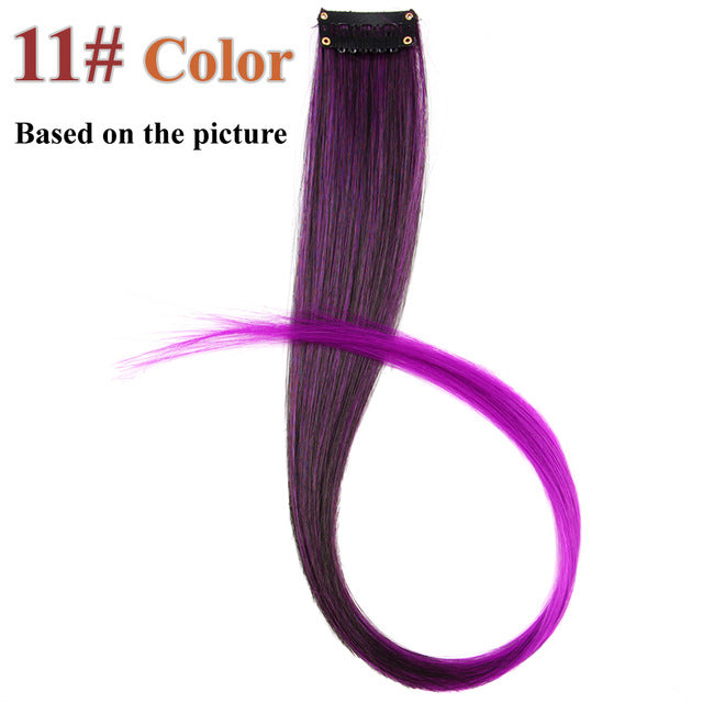 20 Colors 50CM Single Clip In One Piece Hair Extensions P4/613 / 20inches