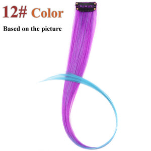 20 Colors 50CM Single Clip In One Piece Hair Extensions P6/613 / 20inches