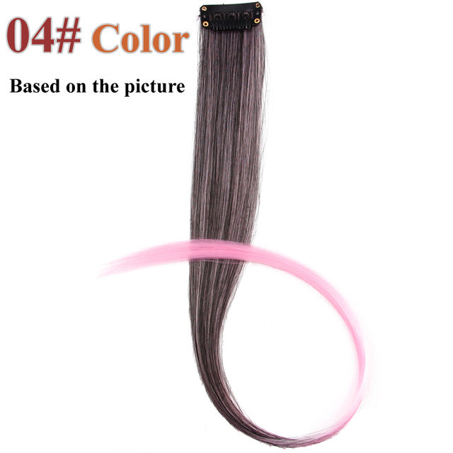 20 Colors 50CM Single Clip In One Piece Hair Extensions #4 / 20inches