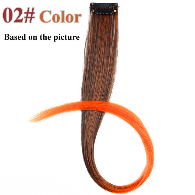 20 Colors 50CM Single Clip In One Piece Hair Extensions #2 / 20inches