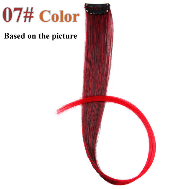 20 Colors 50CM Single Clip In One Piece Hair Extensions