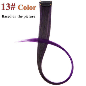 20 Colors 50CM Single Clip In One Piece Hair Extensions P8/613 / 20inches