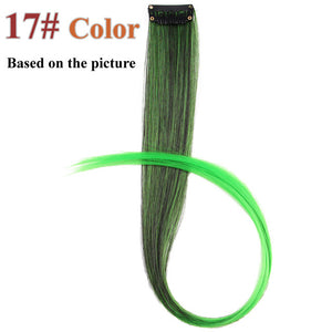 20 Colors 50CM Single Clip In One Piece Hair Extensions 8#/24# / 20inches
