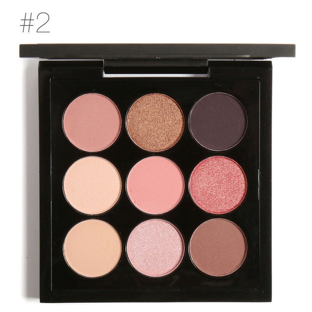 FOCALLURE 9 Colors Earth Tone Eyeshadow Palette 2 / China