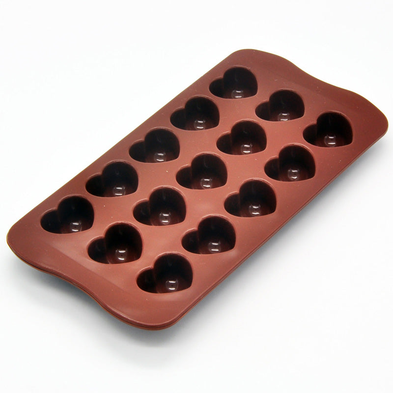 Non-stick Silicone Chocolate Molds Love Heart Shaped