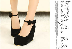 Buckle Wedge High Heel Shoes