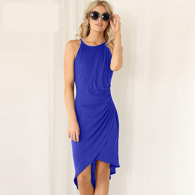 Summer Dress bright blue / L