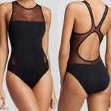 Mesh One-Piece Swimwear Monokini