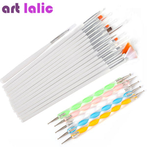 20 Pcs Nail Art Brushes