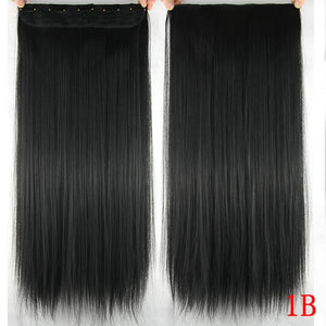 16 cm Long straight hair extensions #1B / 24inches