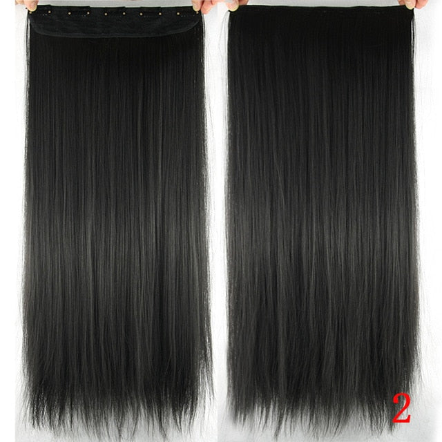 16 cm Long straight hair extensions #2 / 24inches