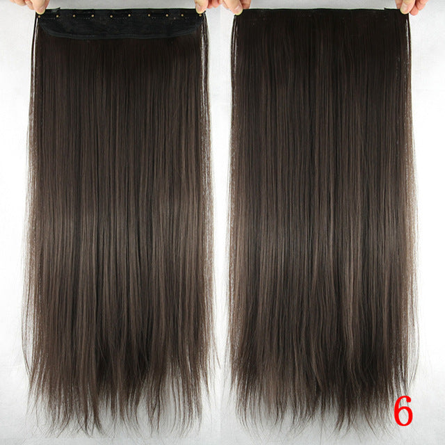 16 cm Long straight hair extensions #6 / 24inches
