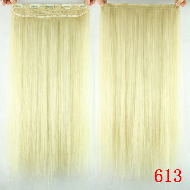 16 cm Long straight hair extensions #613 / 24inches