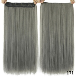 16 cm Long straight hair extensions Blue / 24inches