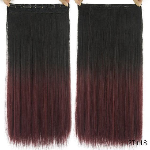 16 cm Long straight hair extensions Coffee / 24inches