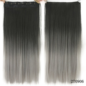 16 cm Long straight hair extensions Blonde / 24inches