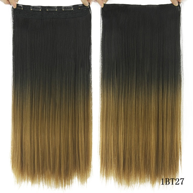 16 cm Long straight hair extensions Red / 24inches