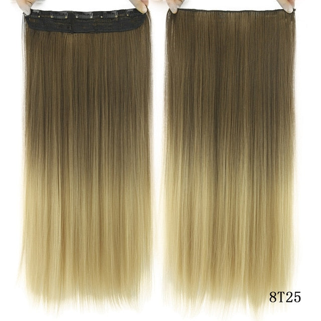 16 cm Long straight hair extensions 1B/Deep Grey / 24inches