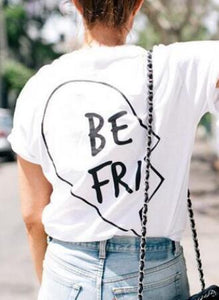 Best Friends T Shirt White BE FRI / XS