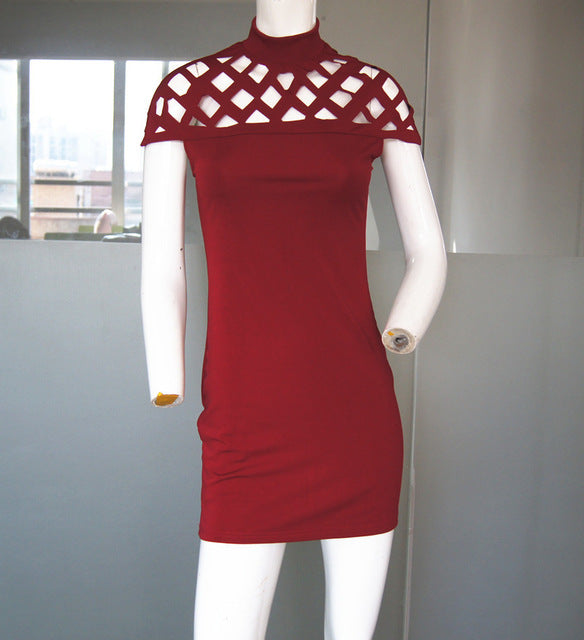 Sexy Summer Casual Dress Red wine / S