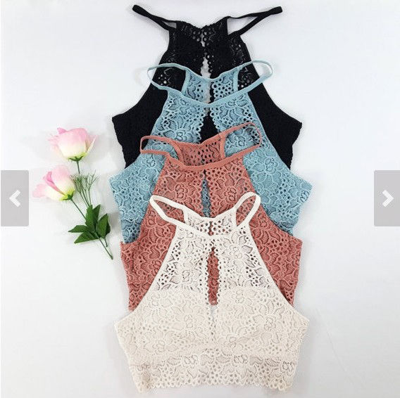Summer sexy lace bustier tank top