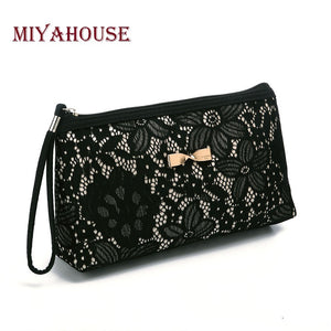 Lace Design Cosmetic Bags