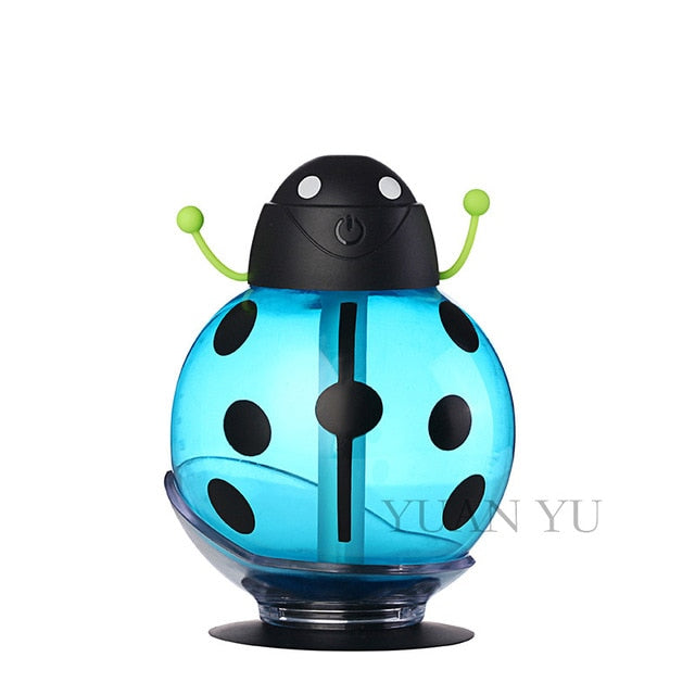 Cartoon USB Aromatherapy Essential Oil Diffuser LED Light Blue