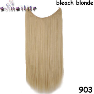 20 inches Invisible Wire No Clips Fish Line Hairpieces Silky Straight