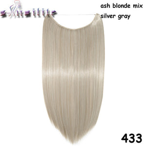20 inches Invisible Wire No Clips Fish Line Hairpieces Silky Straight #31 / 20inches