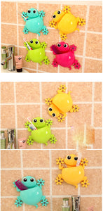 Cartoon Gecko Wall Suction Toothbrush Holder