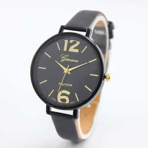 Colorful Ladies Wrist Watch Black