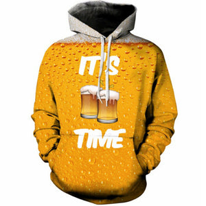 Beer Print  3D Hoodies