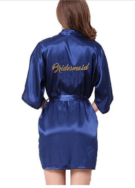Bridesmaid robes Sleepwear Wedding Nightdress Nightgown As the photo show 18 / S