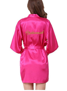Bridesmaid robes Sleepwear Wedding Nightdress Nightgown As the photo show 8 / S