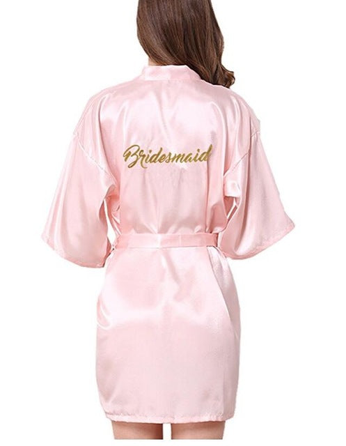 Bridesmaid robes Sleepwear Wedding Nightdress Nightgown As the photo show 10 / S