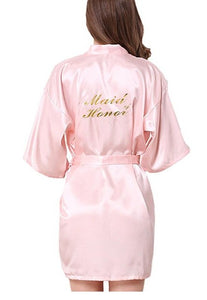 Bridesmaid robes Sleepwear Wedding Nightdress Nightgown As the photo show 3 / S