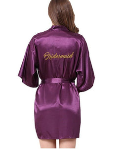 Bridesmaid robes Sleepwear Wedding Nightdress Nightgown As the photo show 4 / S