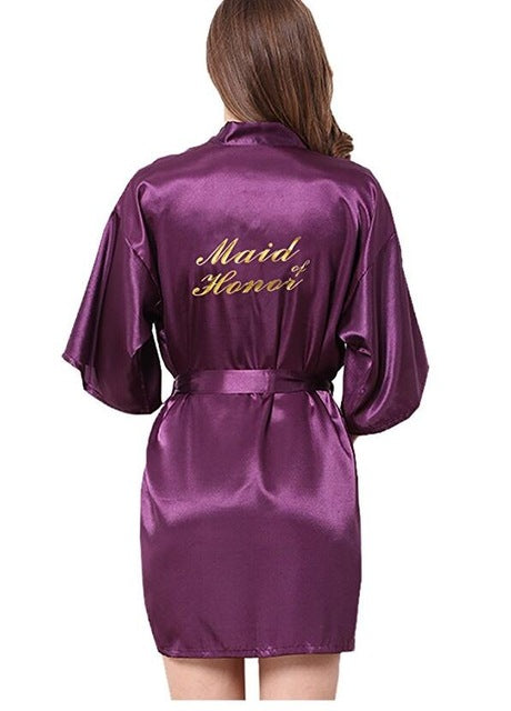 Bridesmaid robes Sleepwear Wedding Nightdress Nightgown As the photo show 12 / S