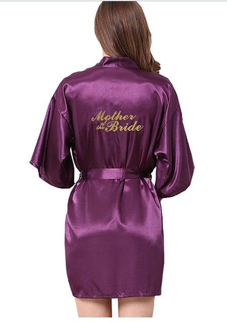 Bridesmaid robes Sleepwear Wedding Nightdress Nightgown As the photo show 13 / S