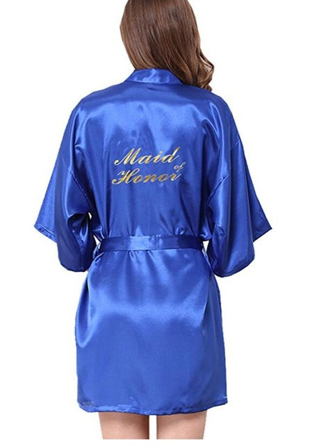 Bridesmaid robes Sleepwear Wedding Nightdress Nightgown As the photo show 15 / S
