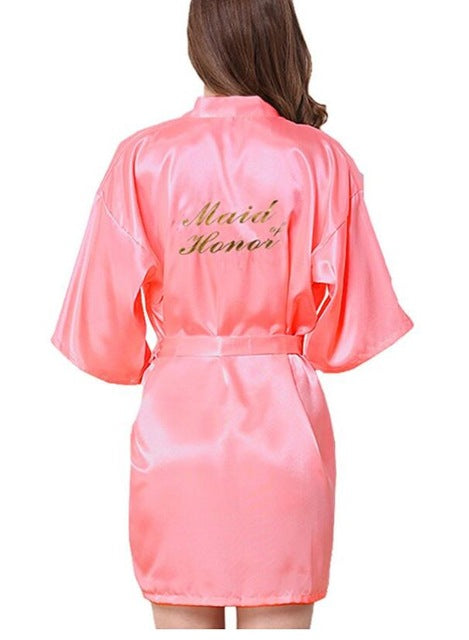 Bridesmaid robes Sleepwear Wedding Nightdress Nightgown As the photo show 6 / S