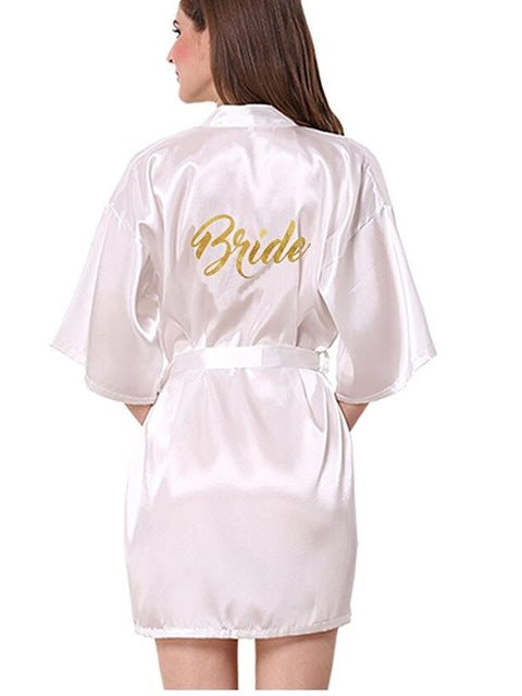 Bridesmaid robes Sleepwear Wedding Nightdress Nightgown As the photo show 17 / S