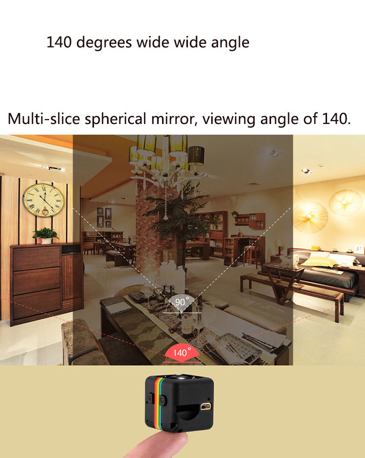 SQ11 Mini Camera 1080P HD DVR