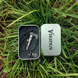1pcs Viking Necklace Nordic Axe Anti Silver with Box
