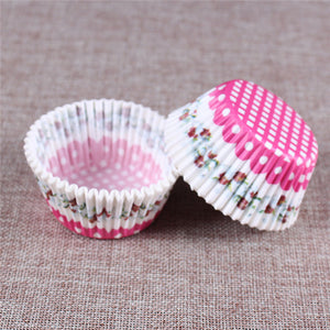 100PCS Muffins Paper Cupcake Wrappers 8