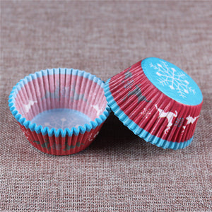 100PCS Muffins Paper Cupcake Wrappers 16