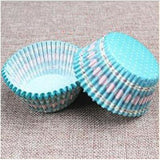 100PCS Muffins Paper Cupcake Wrappers 25